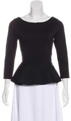 Alice + Olivia Long-Sleeve Peplum Top