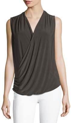 NIC+ZOE Feel Good Faux-Wrap Top $69 thestylecure.com