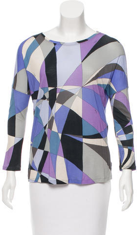 Emilio Pucci Emilio Pucci Printed Long Sleeve Top