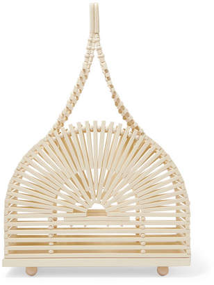 Cult Gaia Dome Mini Bamboo Clutch - Cream