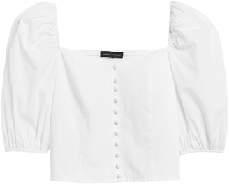 Banana Republic Puff-Sleeve Cropped Top