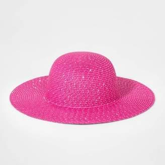 Cat & Jack Girls' Floppy Hat Dark Pink One Size