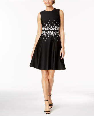 Calvin Klein Embroidered Fit & Flare Dress