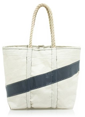 Angela Adams® and Sea Bags for J.Crew diagonal-stripe sail bag