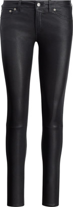 Ralph Lauren Stretch Leather Skinny Pant