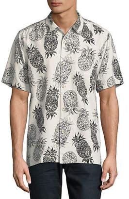 Tommy Bahama Pineapple-Print Silk Sport Shirt
