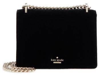 Kate Spade New York Watson Lane Marci Velvet Clutch - Black