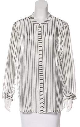 Halston H by Stripe Chiffon Blouse