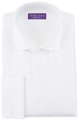 Ralph Lauren Basic Pleated French-Cuff Tuxedo Shirt