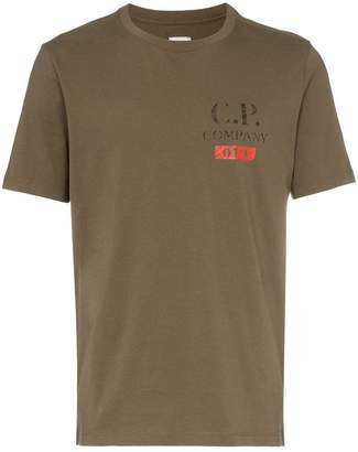 C.P. Company CP LOGO SS TEE BRN