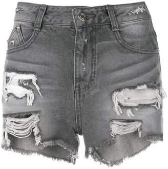 Sjyp cut off denim shorts