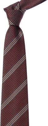 Tom Ford Red Multicolor Stripe Silk & Wool-Blend Tie