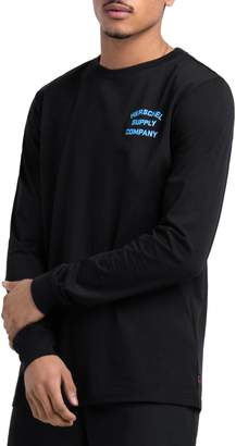Herschel Cotton-Blend Long-Sleeve Logo Tee