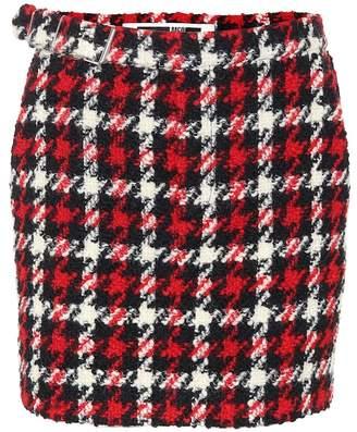 McQ Houndstooth wool-blend skirt