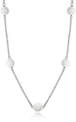 Antica Murrina Perleadi White Murano Glass Beads Necklace $58 thestylecure.com