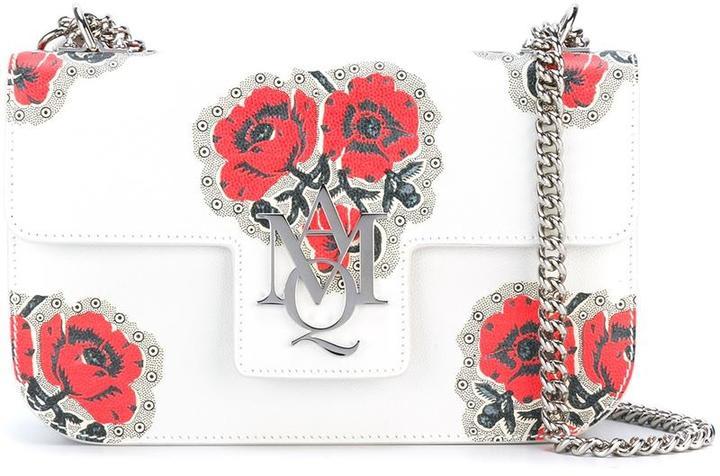 Alexander McQueenAlexander McQueen Insignia poppy print satchel