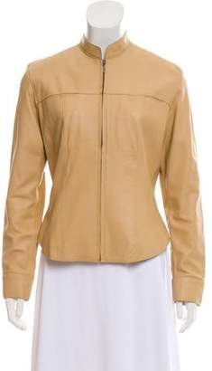 Brooks Brothers Leather Zip-Up Jacket
