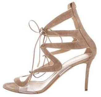 Nicholas Kirkwood Suede Lace-Up Sandals