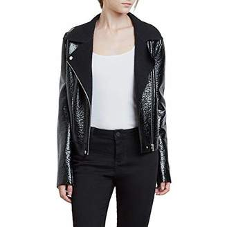 Kenneth Cole Women's Patent Leather Moto Jacket