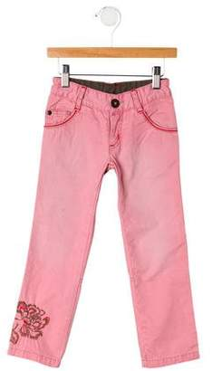 Catimini Girls' Embroidered Jeans