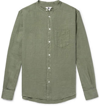 NN07 Devon Grandad-Collar Linen Shirt