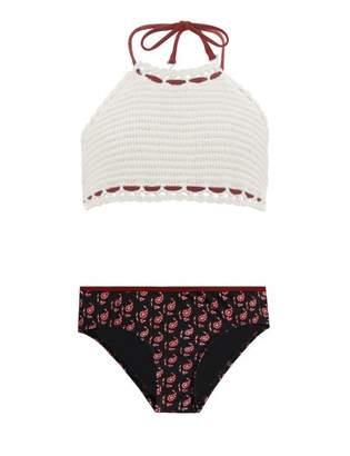 Zimmermann Jaya Crochet Halter Bikini