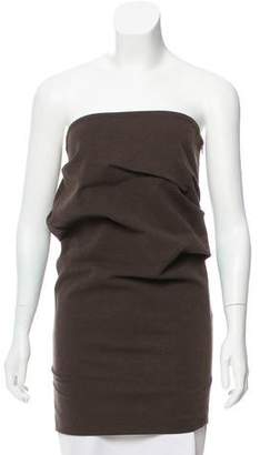 Brunello Cucinelli Ruched Strapless Top