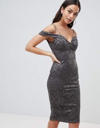 AX Paris Lace Pencil Dress With Sleeve