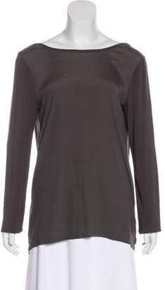 Theory Silk-Blend Draped Top