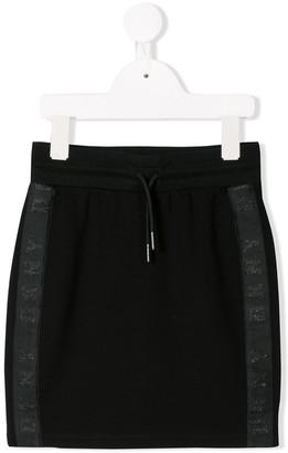 DKNY logo striped skirt