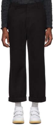 1cab6e00bb07 Acne Studios Black Cropped Preston Trousers