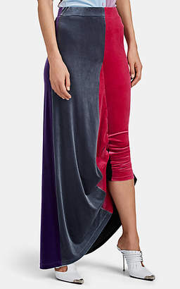 Y/Project Women's Colorblocked Velvet Skirt