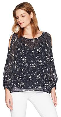 Velvet by Graham & Spencer Women's Naveen Cold Shoulder Blouse