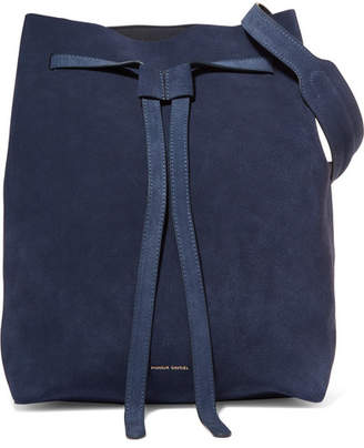 Mansur Gavriel Hobo Suede Shoulder Bag - Navy
