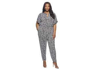 MICHAEL Michael Kors Size Square Sleeve Jumpsuit Women's Jumpsuit & Rompers One Piece