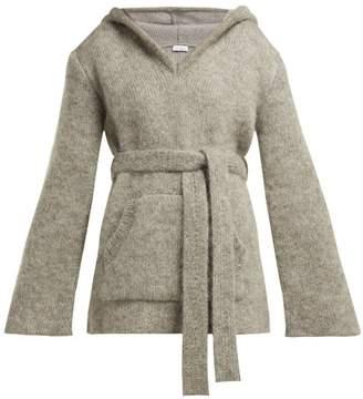 Raey Hooded Mohair Blend Sweater - Womens - Grey