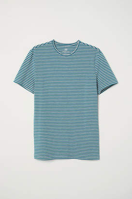 H&M Crew-neck T-shirt Slim fit - Turquoise