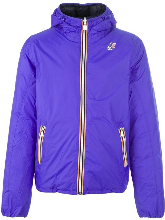 K-Way hooded reversible jacket