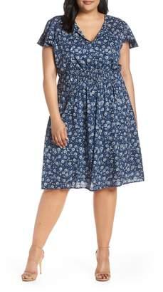 Lucky Brand Olivia Smocked Waist Dress