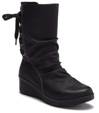 Earth Origins Deena Faux Leather Wedge Boot
