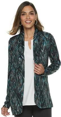 Dana Buchman Women's Print Knit Blazer