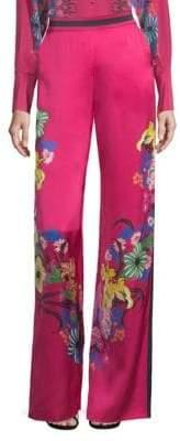 Etro Tropical Floral-Print Pants