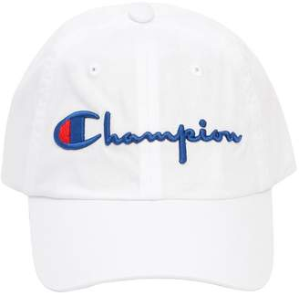 Champion Logo Woven Cotton Baseball Hat