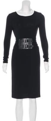 Michael Kors Belted Long Sleeve Dress