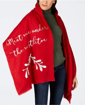 Charter Club Mistletoe Blanket Wrap