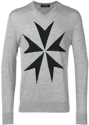 Neil Barrett military star sweater