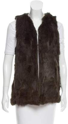 Pologeorgis Suede-Trimmed Fur Vest