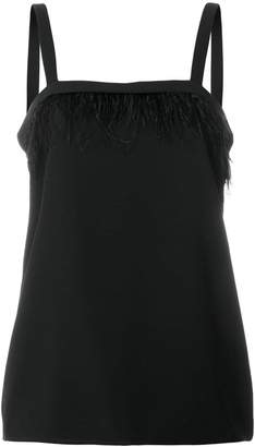 DKNY feather embellished top