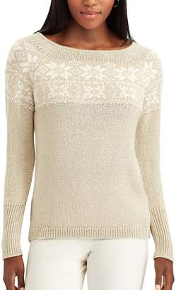 Chaps Women's Snowflake Fairisle Sweater