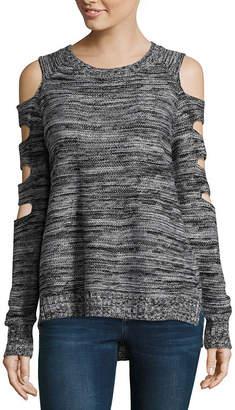 Arizona Cut Out Shoulder Sweater-Juniors